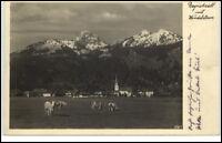 Bayrischzell Bayern alte Postkarte 1932 gelaufen Gesamtansicht mit Wendelstein