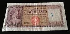 REPUBBLICA ITALIANA - BANCONOTA LIRE 500 23/03/1961 - CARLI RIPA