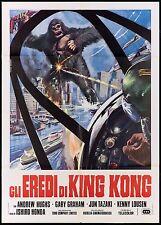 GLI EREDI DI KING KONG ISHIRÔ HONDA ALL MONSTERS ATTACK SCI-FI MOVIE POSTER 2F