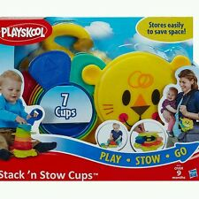 PLAYSKOOL STACK AND STOW CUPS (PLAY STOW GO) 7 CUPS AGES 9 Months +