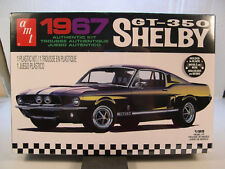 BLACK 1967 FORD SHELBY GT350 MUSTANG AMT 1:25 SCALE PLASTIC MODEL CAR KIT