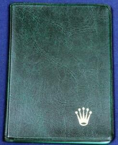 BW 59.  ROLEX GREEN LEATHER 4 POCKET BILLFOLD.      A NICE BILLFOLD IN EXCELLENT