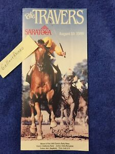 MINT 1989 SARATOGA TRAVERS PROGRAM EASY GOER PAT DAY HALL OF FAME