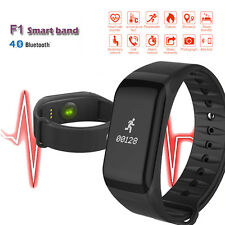 Black Blood Pressure/Oxygen Heart Rate Monitor Smart Watch Band Fitness Tracker