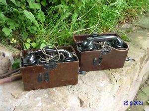 Feldtelefon Wehrmacht 2 Stück verfügbar