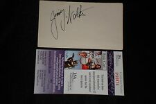 JIMMY WALKER SIGNED AUTOGRAPHED 3X5 INDEX CARD DETROIT PISTONS JSA CERTIFIED