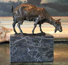 Goat Domestic Billy Boer Show Pet Nanny Goat Bookend Bronze Marble Statue Trophy