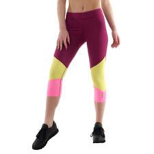 4851e9a5d7 Reebok Women's Leggings 3/4capri Dance Fitness Yoga Casual XS