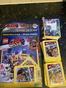 The Lego Movie Collectors Album Plus 36 Packets Of Stickers Bundle New Sealed