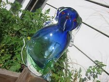 Lovely Vintage Murano Drioli Glass Figural Dog Decanter Bottle use as a Bud Vase