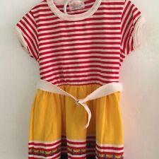 Vintage Health Tex Dress Size 5 Stripe Salor with belt  USA
