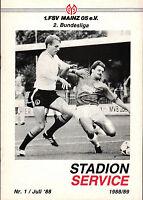 II. BL 88/89 1. FSV Mainz 05 - 1. FC Saarbrücken, 24.07.1988