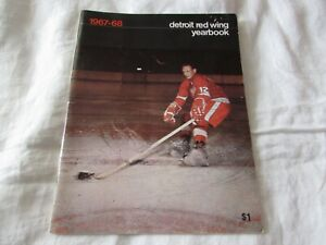 1967-68 VTG Detroit Red Wing ANNUAL YEARBOOK hockey program schedules player bio