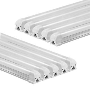 10x LED Leuchtstoffröhre Komplett Set mit Fassung 60cm Röhre Lichtleiste 3000K