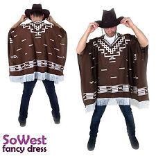 Déguisement mexicain western far west cowboy poncho pour clint eastwood nuits
