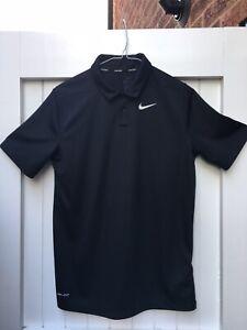 💥Nike Dri Fit Golf Polo Black & White Boys Age 13-15 New