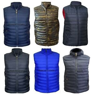 Mens Sleeveless MM GILET Body Warmer Puffer Quilted Padded Bomber Jackets Gilets
