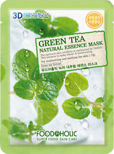 2 X 3D Food A Holic Superfood  Fresh Green Tea Natural Essence face Mask