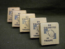 Paquet Cigarettes troupe ration WWII WW2 french tobacco early model full pack