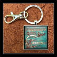Vintage Peters Cartridges 12 Ga. Shot Gun Shell Box Photo Keychain Collectible