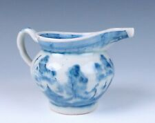 Antique Chinese Blue & White Porcelain Creamer Milk Jug Pitcher Export China