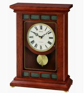 NEW SEIKO MUSICAL MANTEL CLOCK PLAYS 1 OF 18 HI-FI MELODIES EVERY HOUR QXW421BLH