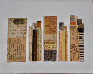 Paper strip CITY SCAPE COLLAGE-New York City Architecture