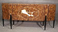 Italian-Made Ruhlmann Art Deco Replica Tasselated Rosewood Sideboard Buffet MINT