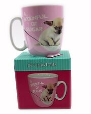 New Chihuahua Dog Mug A Spoon Full Of Sugar Cup Gift Boxed Ceramic Animal Puppy