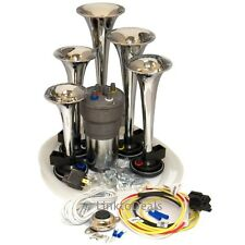 Chrome Dixie Car Truck Musical Air Horns Dukes of Hazzard Horn Install Wire Kit