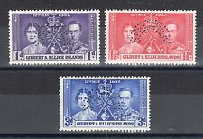 Gilbert and Ellice Islands 1937 Coronation Specimen perfin MLH