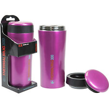 Summit 300ml Hot Drinks Tea Coffee Double Wall Insulated Travel Pink Thermal Mug