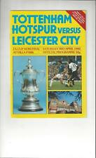 Tottenham Hotspur v Leicester City FA Cup Semi Final Football Programme 1982