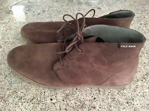 Cole Haan Mens Pinch Weekender Chukka Boot Shoes Brown Suede Sz 11.5 M
