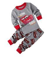 Toddler Kids Baby Boys Long Sleeve Cars Lightning McQueen Pajamas Sets Nightwear