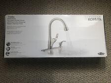 NEW Kohler Trielle Single-Handle Pull-Down Sprayer Stainless Kitchen Faucet