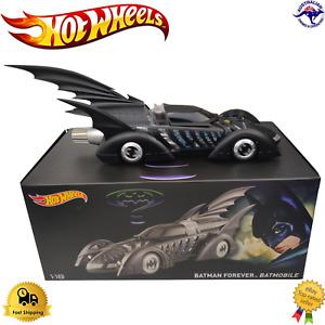 Diecast Model Car 1:18 Batman Forever Batmobile Hot Wheels DC WB Comics Premium