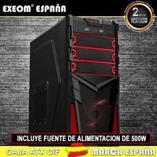 Caja ATX Ordenador Pc Gaming de Sobremesa Torre Kron Roja USB Frontal Con Fuente