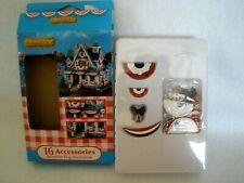 Lemax American Flag Decorations~16 Village Accessories~4 Styles~Patriotic~Niob
