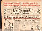 CANARD ENCHAINÉ Birthday Newspaper JOURNAL NAISSANCE 30 SEPTEMBRE SEPTEMBER 1981