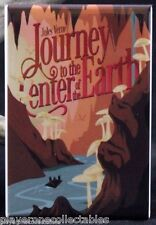 Journey to the Center of the Earth Book Cover - Fridge Magnet. Jules Verne
