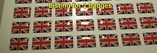 2x Small Union Jack Badge sticker emblem Flag