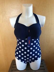 Badeanzug, Gr. 50, 4 XL, blau, große Größe, Bademoden, Damen, Bikini, Badezeug