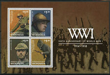 Micronesia 2014 MNH WWI 100th Anniv World War One 4v M/S German Soldiers Stamps