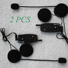2x BT Intercomunicador Interphone Bluetooth Auriculares Interfono para Moto 500M