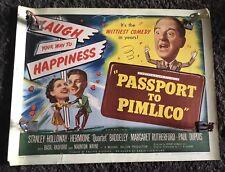 PASSPORT TO PIMLICO half-sheet movie poster '49 Stanley Holloway