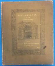 MONOGRAPH OF THE FIRST DECADE FIDELITY BANK (1900 HC) signed by Edwin Warfield