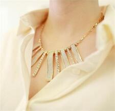 Fashion Jewelry Crystal Chain Statement Chunky Choker Pendant Necklace For Women