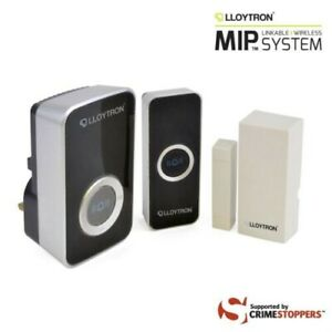 Lloytron B7513BK-C MIP2 Wireless Doorbell Kit With Magnetic Door Sensor