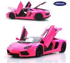 Welly Lamborghini Aventador FX LP700 1/18 Pink Barbie Diecast Car Model
